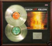 QUEEN - Double Platinum disc & cover presentation - KILLERS